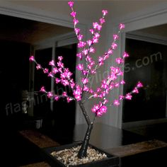 NEW! LED Light Up Pink Cherry Blossom Tree - SKU NO: 11665-PK