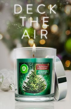 Add the scent of pine to any room with Air Wick's Enchanted Holiday Collection - Evergreen Adventure