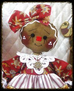 Primitive Raggedy Ann Gingerbread A SWEETIE PIE