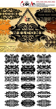 Vinyl Signs, Wood Signs, Cardboard Crafts, Paper Crafts, Name Plate Design, Name Plates For Home, Welcome Home Signs, Fancy Pens, Cnc Software