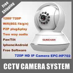 Find More CCTV Cameras Information about Free Shipping New Arrival H.264 1280*720P Pan/Titl 1megapixel Wifi/3G P2P CCTV Mini IP Camera for Indoor Use,High Quality camera housings cctv,China camera game Suppliers, Cheap cctv from Sunchan Development(Shenzhen)Co.,Ltd on Aliexpress.com