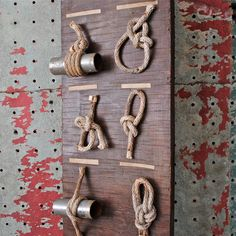 Vintage Nautical Sailing Knot Display Board.