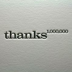 Thank You Letterpress Card Set of Four, Thanks a Million, Chocolate Brown Thanks A Million, Bien Dit, Thank You Quotes, Trust Quotes, Attitude Of Gratitude, Gratitude Quotes, Lettering, Inspire Me, Wise Words
