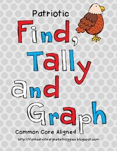 Graphing: Find, Tally and Graph- Patriotic National Symbols Teaching Skills, Teaching Time, Teaching Social Studies, Student Teaching, Teaching Resources, Teaching Ideas, 1st Grade Science, 2nd Grade Math, Summer School
