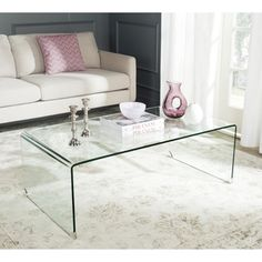 Christopher Knight Home Ramona Glass Rectangle Coffee Table | Overstock.com Shopping - The Best Deals on Coffee, Sofa & End Tables