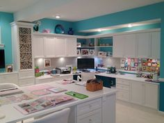Home Office Craft Room Design Throughout Home Office Craft Room Design Ideas Dou. - Home Office Craft Room Design Throughout Home Office Craft Room Design Ideas Doubtful Amazing Decor - Sewing Room Design, Craft Room Design, Sewing Rooms, Sewing Studio, Sewing Room Organization, Craft Room Storage, Organisation Ideas, Office Furniture Design, Home Office Design