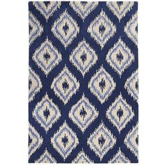 Ikat—that ancient global-chic weaving technique that produces inifinite permutations of feathery geometric patterns—never seems to go out of style. So we've paid design tribute with our graphic Ikat Diamond Rugs. Hand-tufted in India from 100% natural wool, they've got youkat written all over it.