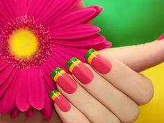 imagens, papéis de parede cor de rosa do gerbera, manicure vetor, flor fundos, material de cor