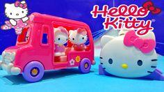 Hello Kitty Vellutata School Bus & Silly Slider Playset Toys ★ Hello Kit...