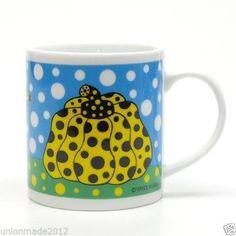 YAYOI-KUSAMA-Pumpkin-Mug-Cup-YELLOW-Art-Design-Dots-Obsession-LOVE-Official