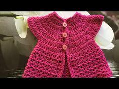 Tuto crochet gilet sans manches pour bébé - YouTube Crochet Toddler, Baby Girl Crochet, Crochet For Kids, Crochet Box, Knit Crochet, Babies R, Girl Gifs, Baby Sweaters, Baby Knitting