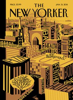 """The New Yorker - Monday, January 31, 2011 - Issue # 4390 - Vol. 86 - N° 46 - Cover """"Mental Landscape"""" by Frank Viva"""