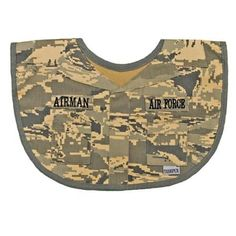Acu Us Army Baby Newborn Bib Name Tape Upcycled From