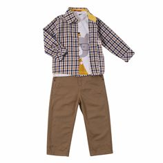 Mr. Bear Boys Outfit (3pc-set), 32% discount @ PatPat Mom Baby Shopping App