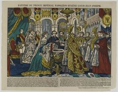 1856-The baptism of the Prince Imperial, Notre Dame Paris