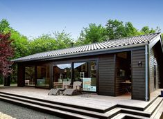 Modern Barn House, Barn House Plans, Modern Cottage, Container House Design, Small House Design, Prefab Cottages, Backyard Renovations, Village House Design, Beautiful House Plans
