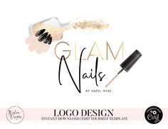 Nail Salon And Spa, Nail Salon Design, Jewel Logo, Birthday Email, Free Logo Templates, Easter Wallpaper, Nail Logo, Eyelash Logo, Beauty Salon Logo