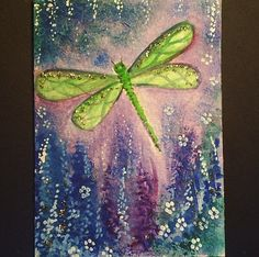 aceo original dragonfly challenge painting £3.50