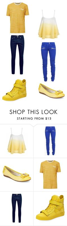 """""""Untitled #340"""" by kassidyrobinson on Polyvore featuring Balmain, Anne Klein, Topman and Giuseppe Zanotti"""