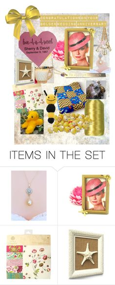 50 Years Together by cindyanne-mroz-hernandez on Polyvore featuring art - proud that ColdhamCuddlies' Yellow Sleepy Bear is part of this great EtsyFru Team celebration! Thanks for including us, Cindyanne - Capt. of the EtsyFruTeam