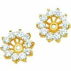 14k Gold Moissanite Earring Jackets Findingking 399 99