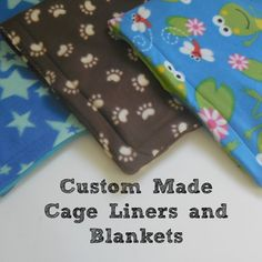 Have you tried our fabulous fleece cage liners yet? This lady has an amazing selection of fleece!