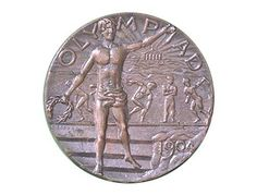 Official medal for the 1904 Olympic Games in St Louis.