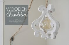 DIY Wooden Chandelier Light Fixture - Sawdust 2 Stitches