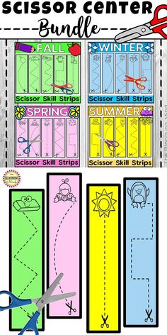 Scissor Practice {Fine Motor Bin Bundle} Save BIG when you buy the BUNDLE! Do your students need extra practice cutting and using scissors? Create a fine motor station or morning tu Cutting Activities, Fine Motor Activities For Kids, Motor Skills Activities, Preschool Learning Activities, Preschool Curriculum, Preschool Worksheets, Preschool Activities, Preschool Kindergarten, Therapy Activities