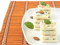 Basil and Almonds Canapes