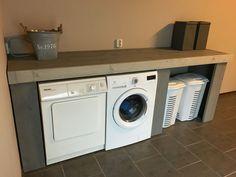 Wasmachine ombouw @Simone van Zandvoort Small Room Bedroom, Bedroom Design, Laundry Room Inspiration, Living Room Designs, Basement Inspiration, Bedroom Decor, Paint Colors For Living Room, Home Decor, Home Deco