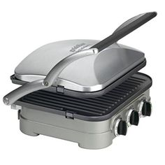 Use this:  Griddler Cuisinart GR4N 5 In 1 Plates Waffle Press Panine Cooker Cookware Food Processor Set