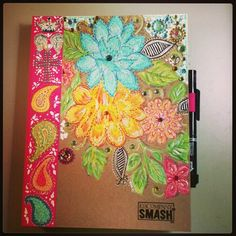 Love the flowers on the cover... Kraft paper with flowers mod podged on for DIY?