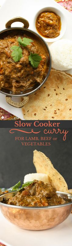 This rich, aromatic slow cooker curry is as amazing with lamb or beef as it is with your favourite vegetables.