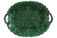 Antique  Majolica   Platter on OneKingsLane.com