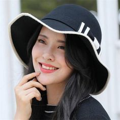 35b4030de9b Bow wool floppy hat for women winter wide brim felt hats