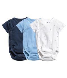 3-pack omlottbodies   Mörkblå   Barn   H&M SE