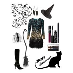 Happy (Early) Halloween! by campanellinoo on Polyvore featuring polyvore, fashion, style, Valentino, GUESS, Avenue, Accessorize and NARS Cosmetics