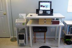 DIY Similar Bookshelf Computer Desk | diy computer desk | diy gaming computer desk | diy computer desk plans | computer desk diy | diy pipe computer desk | Minimalist Floating DIY Desk