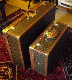 Vintage Louis Vuitton hard cases....... I get giddy just thinking about them