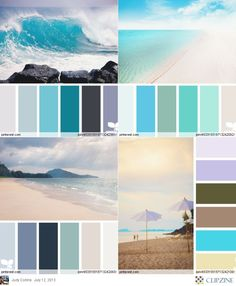 Color Palettes Beach Bathroomsbeach