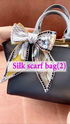 Diy Hair Bows, Diy Bow, Diy Ribbon, Ribbon Bows, Ribbons, Ways To Tie Scarves, Ways To Wear A Scarf, Diy Clothes Life Hacks, Clothing Hacks
