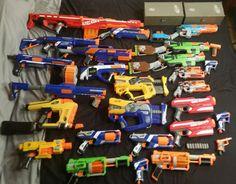Huge Lot of 25 Nerf Guns Elite Mega Centurion, Mega Magnus, Retaliator