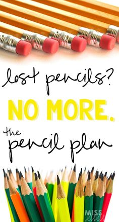 Teachers- sick of lost pencils? This teacher tip will solve your pencil problems!