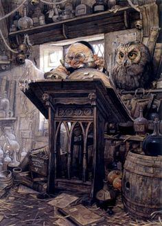 'Dunlee Darnan' by fantasy artist Jean-Baptiste Monge. Delightfully devilish goblin with clever eyes and wicked grins are welcome at The Goblin Ball! www.thegoblinball.com #Goblin #Fantasy