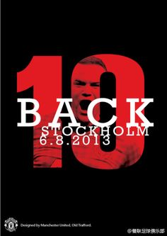 Manchester United expect Wayne Rooney to remain at the club, counting down to his comeback from injury Manchester United Old Trafford, Manchester United Football, Poster Boys, Wayne Rooney, Man United, Stockholm, Comebacks, The Unit, Words