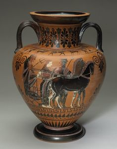 Black-Figure Neck Amphora |  the Painter of Vatican 359 (Greek, Continent Unknown), c. 540 B.C.