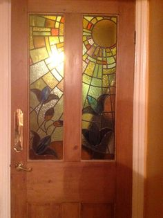 Internal door with leaded glass made by my partner