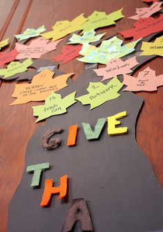Fall Festival Idea - Have each kid add to the tree with something that they are thankful for. Idea from meredithanne8, via Flickr