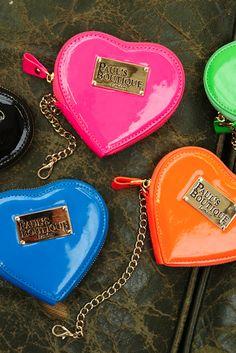 Candy Color Heart Zip Purse #zip #purse www.loveitsomuch.com